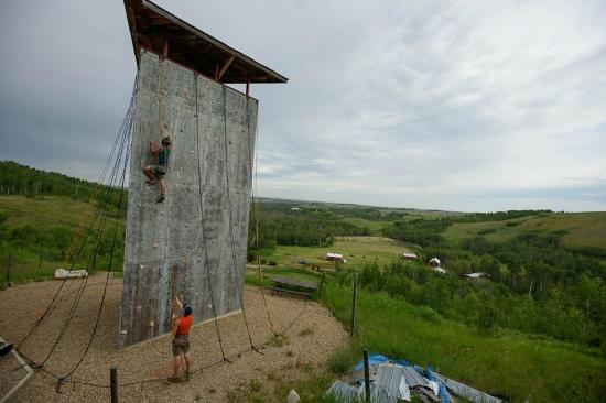 North Battleford, Canada : Wall Climbing with Amazing Views