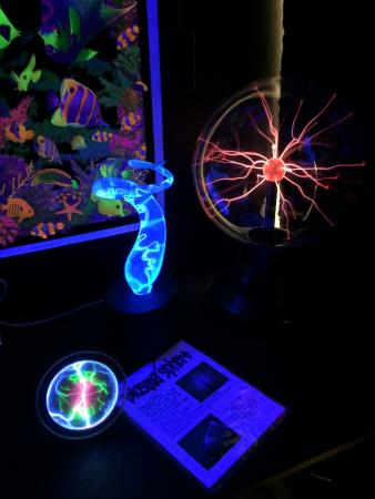 John McConnell Math and Science Center: One of the experiments/exhibits for kids