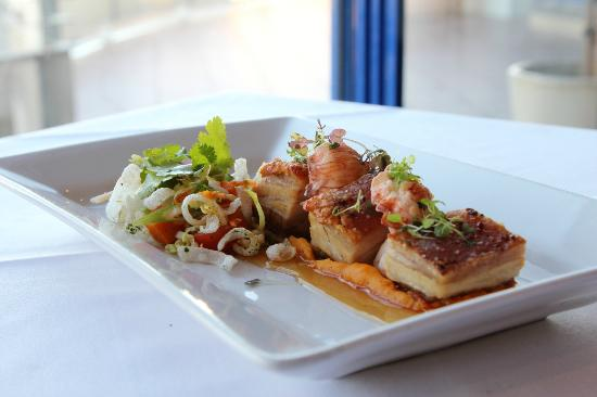 Lighthouse Restaurant: Roasted Pork Belly and Moreton Bay Bug Tail