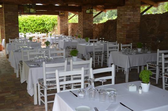 Restaurant Mas Roure : parte de la terraza