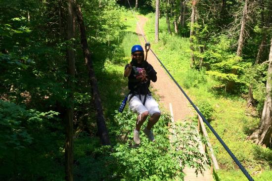 Treetop Trekking: first zip line a number of others to go