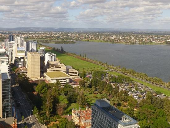 View of the swan river and towards the hills picture of for 44 st georges terrace perth parking