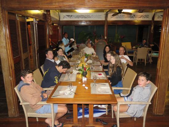 Aqua on Erakor: Lovely dinner for the 13 of us at Aqua