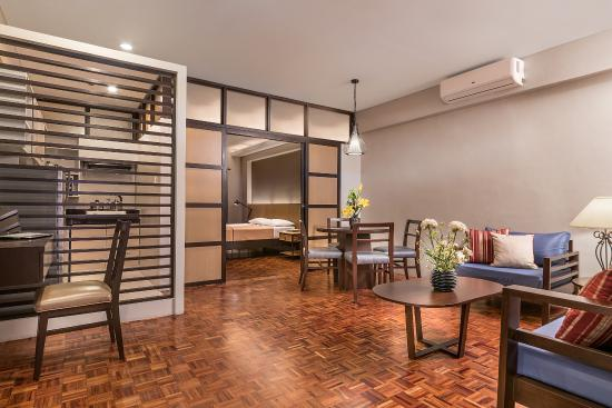 One Bedroom Premiere Suite Living Area Picture Of Tropicana Suites Luzon Tripadvisor