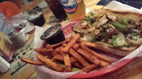 Category Three Bar & Grill: Chicken Philly was delicious