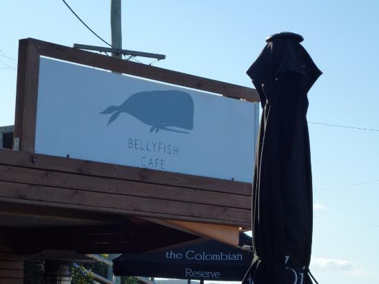 Bellyfish Cafe: Signage