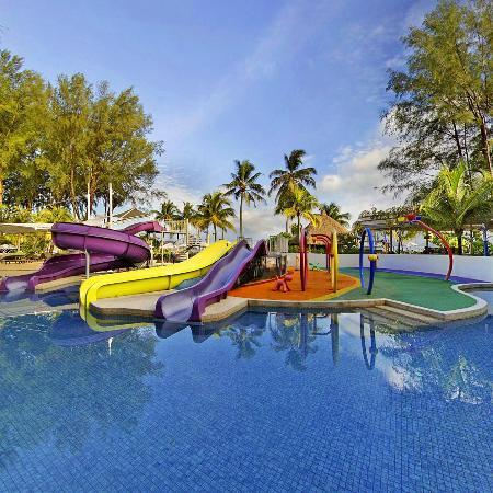 Swimming Pool Slides - Picture of Hard Rock Hotel Penang, Batu ...