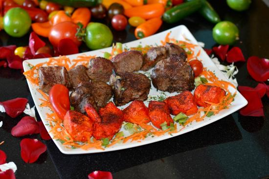 Family style kabobs picture of aryana afghan cuisine for Aryana afghan cuisine