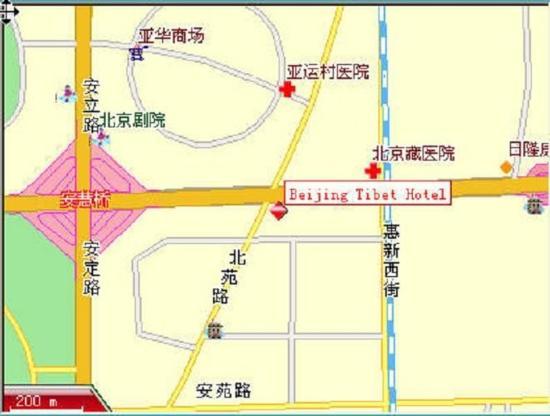 Beijing Tibet Hotel: Map
