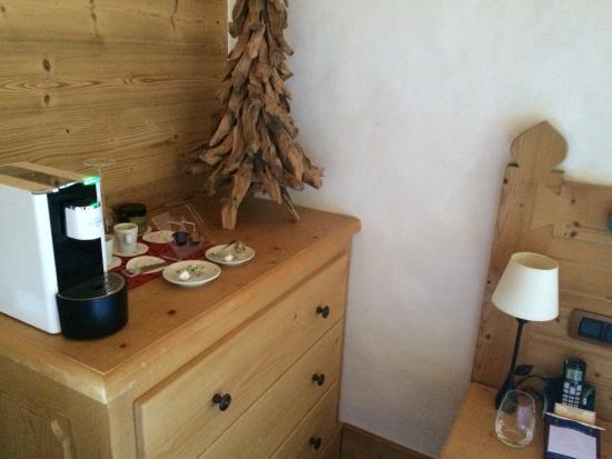 Chalet du Mont d'Arbois: coffee mashine
