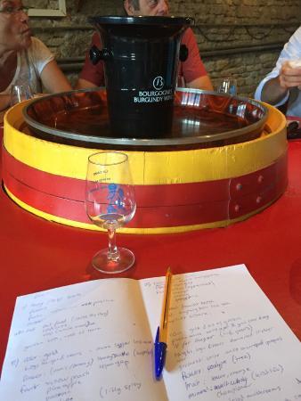 La Cave de l'Ange Gardien: Wine tasting and notes