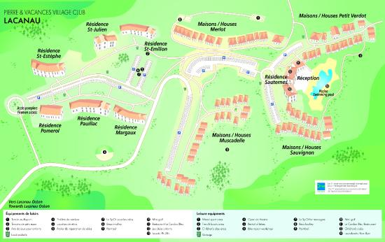 Pierre & Vacances Village Club Lacanau : Plan