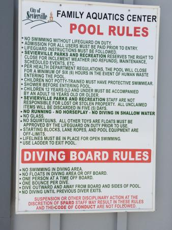 sevierville park pool rules sevierville family aquatic center in sevierville city park