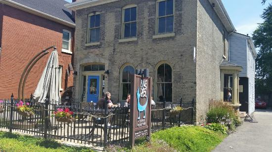 Blue Dog Coffee Roasters: Exterior and patio
