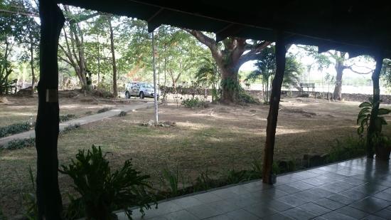 Rancho Curubande' Lodge: Vista desde la habitación, la pampa Guanacasteca