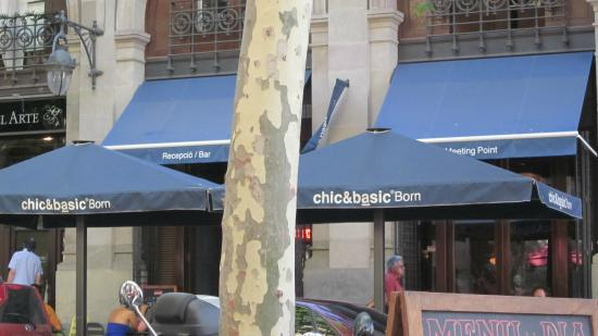 chic&basic Born Hotel: From across the street!