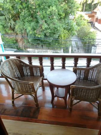 Treasure Hotel Laos: Balcony and view from room