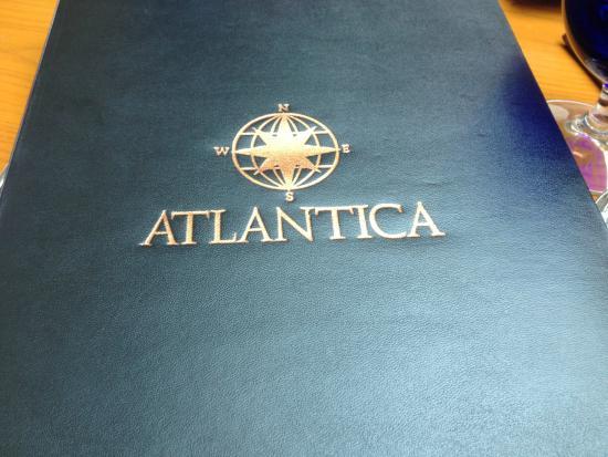 Atlantica Restaurant: The menu awaits!