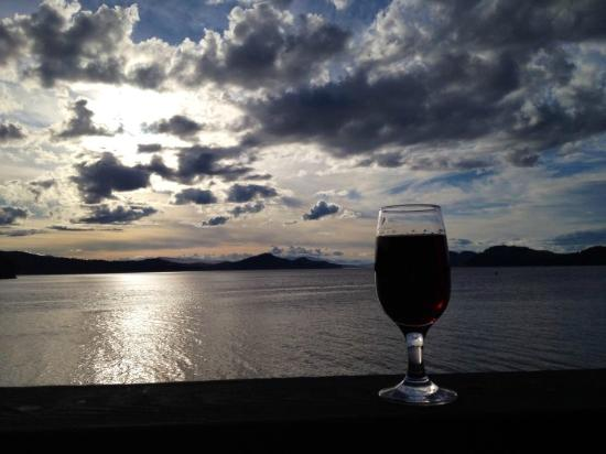 Saturna Island, Canada: The view from the Saturna Pub deck. Not too shabby!