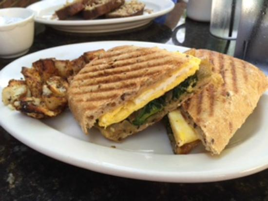 Blue Sky at the State: breakfast panini sandwich