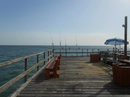 Sunset picture of redington fishing pier redington for Gulf shores pier fishing forum
