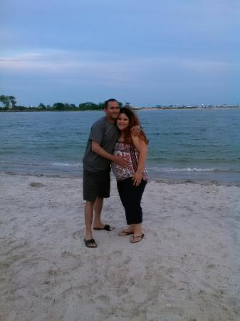 Rockaway Beach: Mi esposa y yo 4 de julio. Junto con su Familia.