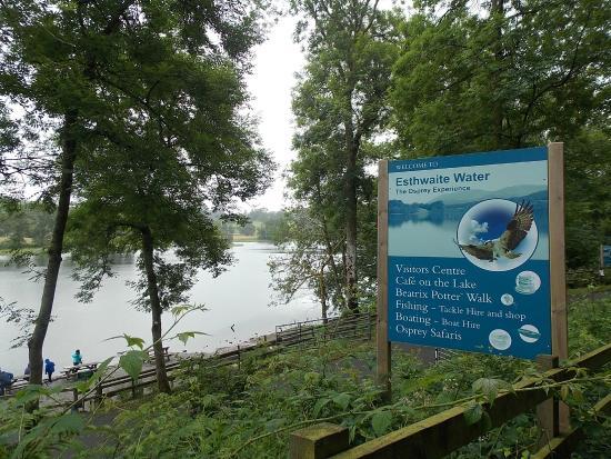 Esthwaite water trout fishery: advertisement board