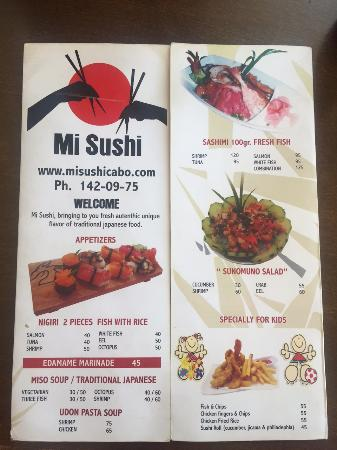 Mi Sushi : Menu
