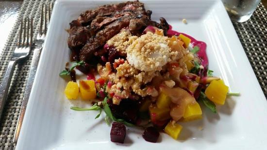 Crop Bistro: beet salad with steak