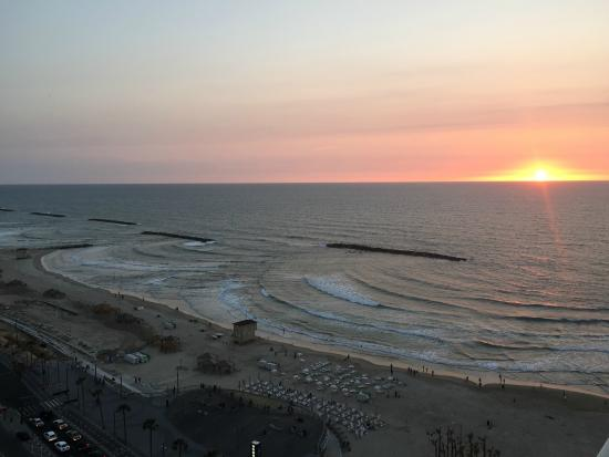 Sunset at the Sheraton Tel Aviv...