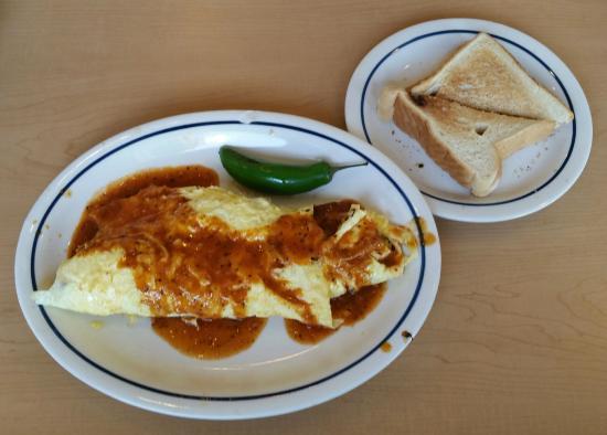 IHOP: Chorizo omelet and toast