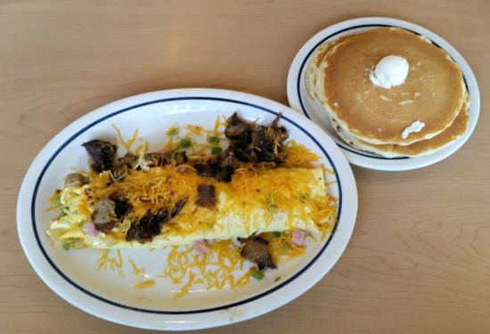IHOP: Colorado omelet and pancakes