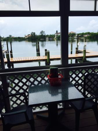 Casey Key Fish House: View From The Table. Saw Two Fish Jump!