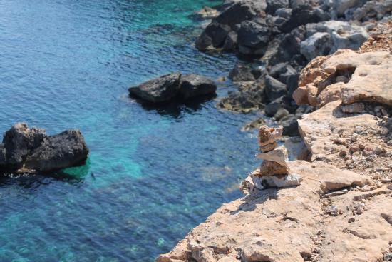 Punta d'es Moscarter : Vistas del acantilado