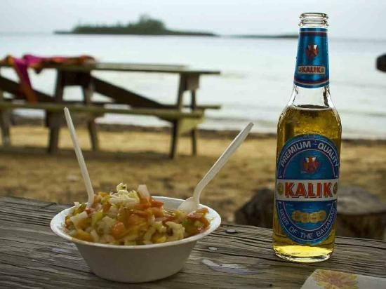 Salt Pond, Νησί Long: Conch Salad and Kalik