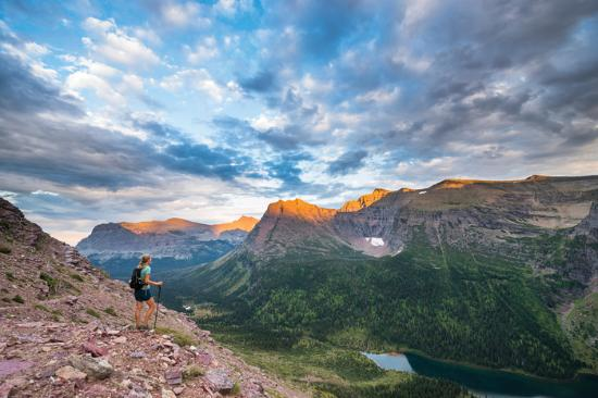 """Photo provided by: Whitefish Visitors Bureau - """"Hiking in neigboring Glacier National Park (© St"""