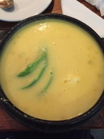El Cafeto: Locro de patas (potato and cheese soup, with sliced avocado)