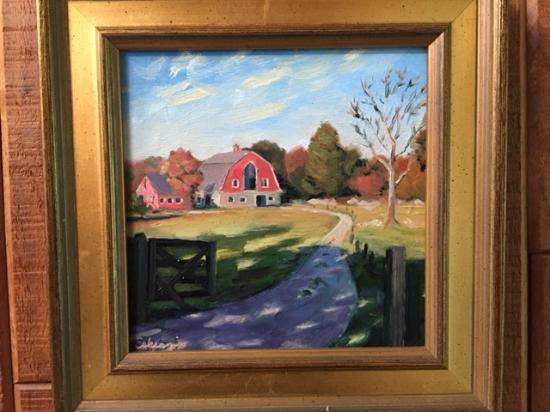 Hingham, MA: Painting of Weir R Farm by a Local Artist
