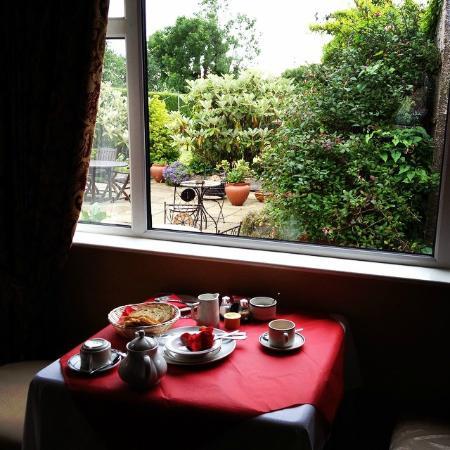 Clare Manor Bed and Breakfast : Breakfast area overlooking garden.