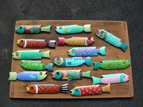 Harpswell, ME: Repurposed Picket Fence Fish - made by Maine Artisans