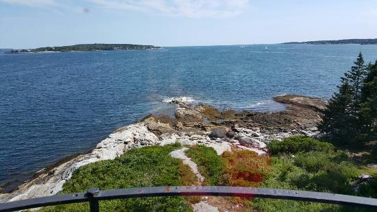 Burnt Island Light Station: View from top of Burnt Island lighthouse
