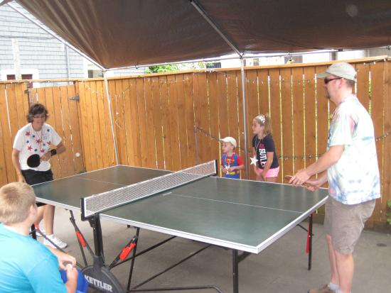 Ping Pong Table Behind Zach S Shack Picture Of Zach S