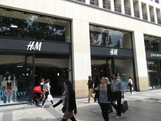 Par s francia campos el seos tienda h m - H m avenue des champs elysees ...