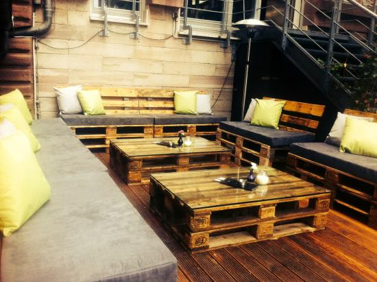 garden terrace back bild von max resto bar garden karlsruhe tripadvisor. Black Bedroom Furniture Sets. Home Design Ideas