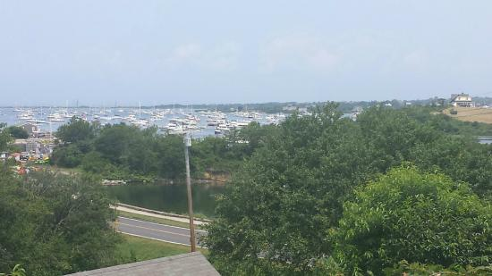 The Barrington Inn: View of New Harbor from the Deck