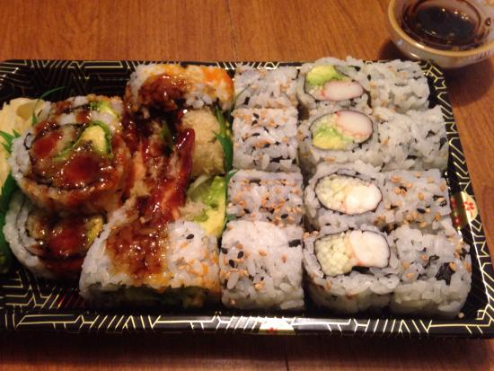 Menomonee Falls, WI: California rolls, shrimp with cucumber rolls & shrimp tempura rolls.