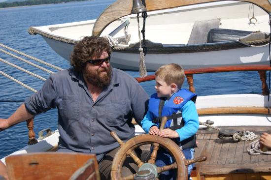 Superior Odyssey Sailing Charters: Our son with captain Niko