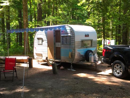 Ohanapecosh Campground: E Loop near the river trail