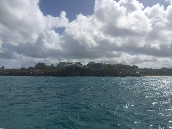 Simpson Bay, St. Maarten/St. Martin: Water views of the island