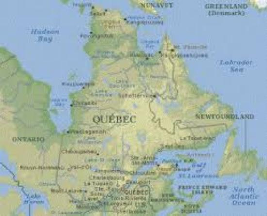 Map Of Quebec Picture Of Brigadoon BB Hudson TripAdvisor - Map of quebec